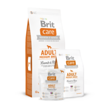 BRIT CARE KUTYATÁP ADULT M (lamb&rice,hypoallergenic) (felnőtt,10-25kg) 3kg