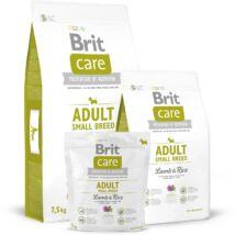 BRIT CARE KUTYATÁP ADULT S (lamb&rice,hypoallergenic) (felnőtt,10kg alatt ) 7,5kg