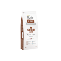 BRIT CARE KUTYATÁP WEIGHT LOSS (rabbit&rice,light) (hipoallergén,túlsúlyos) 1kg