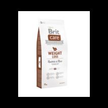 BRIT CARE KUTYATÁP WEIGHT LOSS (rabbit&rice,light) (hipoallergén,túlsúlyos) 3kg