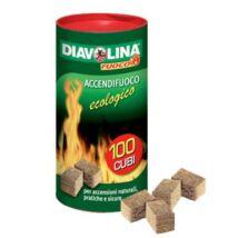 Diavolina Accendifuoco ecologico tűzgyújtó kocka 100 db-os