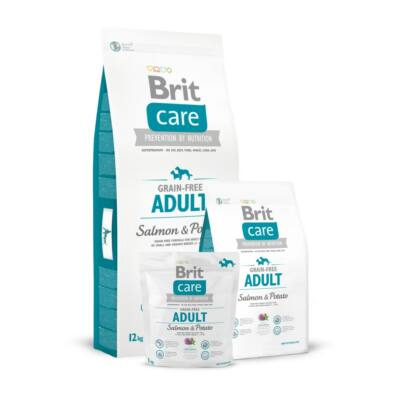 BRIT CARE KUTYATÁP GRAIN FREE ADULT (salmon&potato) 3kg