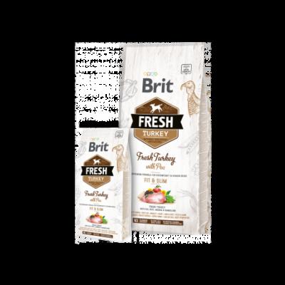 BRIT FRESH KUTYATÁP LIGHT (turkey with pea)(túlsúlyos) 12kg