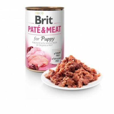 BRIT CARE KUTYA KONZERV PATE&MEAT PUPPY (chicken&lamb) 400g