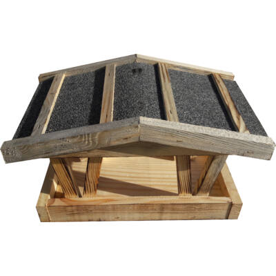MADÁRETETŐ 1020.TÍPUS dúc, 30x21x16cm (fenyő, kátránypapír)
