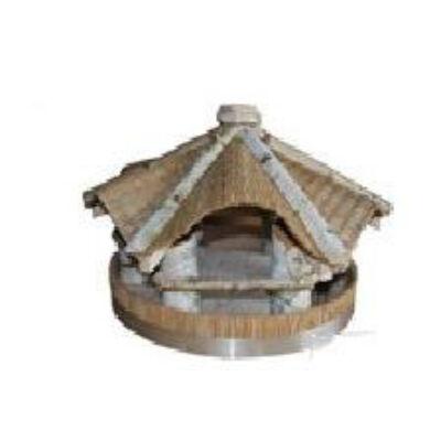 MADÁRETETŐ 1016-1.TÍPUS dúc, átmérő40x25cm (fenyő, nyír, gyékényszövet)