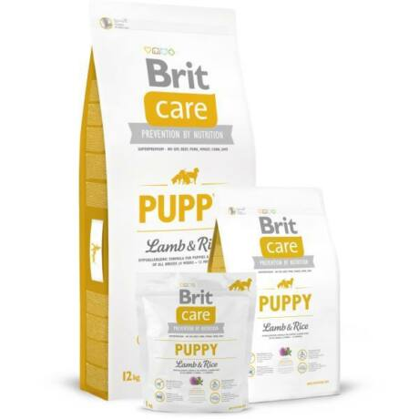 BRIT CARE KUTYATÁP PUPPY ALL BREED (lamb&rice,hypoallergenic) (kölyök) 12kg