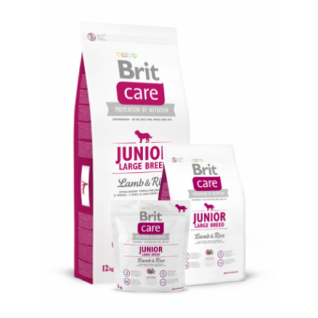 BRIT CARE KUTYATÁP JUNIOR LARGE BREED (lamb&rice,hypoallergenic) (nagy kölyök) 12kg