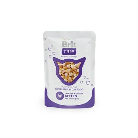 BRIT CARE TASAKOS MACSKA ELESÉG (chicken kitten) 80g