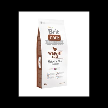 BRIT CARE KUTYATÁP WEIGHT LOSS (rabbit&rice,light) (hipoallergén,túlsúlyos) 12kg