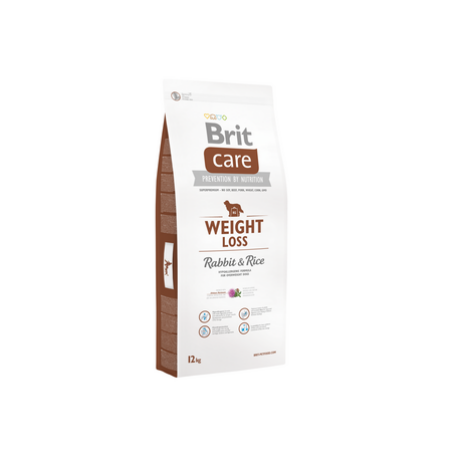 BRIT CARE KUTYATÁP WEIGHT LOSS (rabbit&rice,light) (hipoallergén,túlsúlyos) 12kg