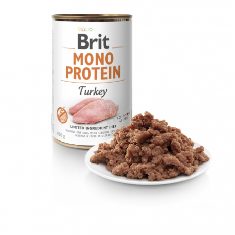 BRIT CARE KUTYA KONZERV MONO PROTEIN (turkey) 400g