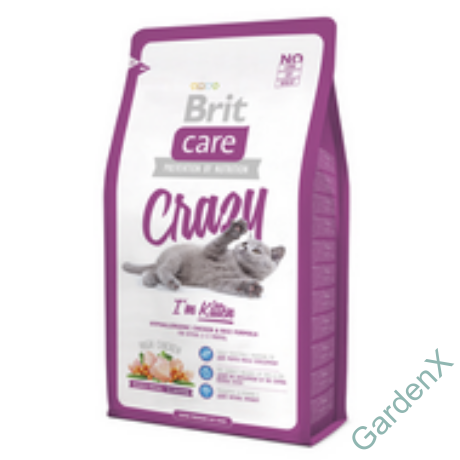 BRIT CARE CAT MACSKATÁP CRAZY KITTEN (chicken&rice)(kölyök) 400g
