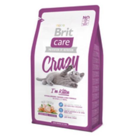 BRIT CARE CAT MACSKATÁP CRAZY KITTEN (chicken&rice)(kölyök) 2kg