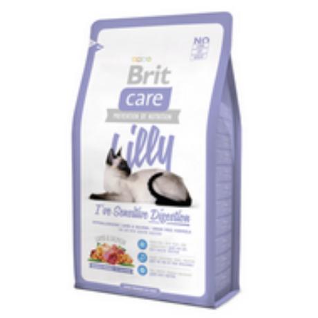 BRIT CARE CAT MACSKATÁP LILLY SENSITIVE (lamb&salmon)(érzékeny gyomrú,felnőtt) 2kg