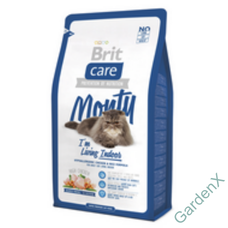 BRIT CARE CAT MACSKATÁP MONTY INDOOR (chicken&rice)(lakásban élő,felnőtt) 400g