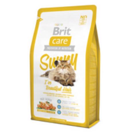 BRIT CARE CAT MACSKATÁP SUNNY BEAUTYFUL HAIR(salmon)(hosszú szőrű,felnőtt) 2kg